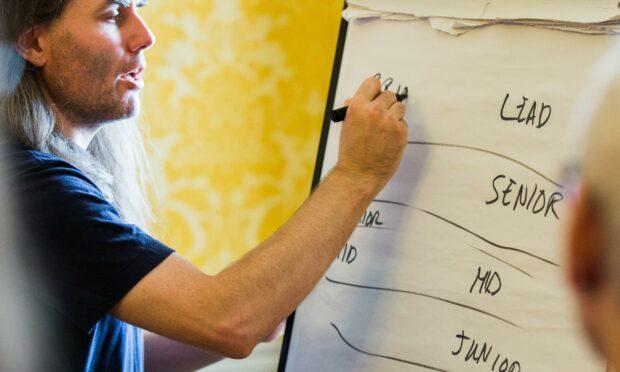 Civil Servant planning a team